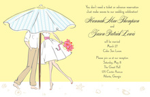 Modern Couple In Shower Bridal Shower Invite