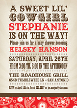 Red Bandana Cowboy Invitations