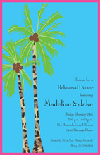 Bright Windy Palms Tropical Tree Party Invitations