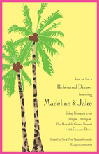 Sunny Palms Tree Yellow Party Invitations