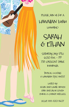 Singing Hawaiian Luau Couple Invitation