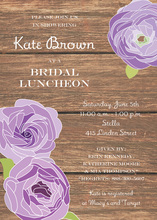 Lavender Flower Rustic Wood Bridal Shower Invitations