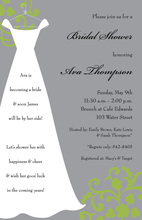 Silhouette Chic White Gown Smoke Invitations