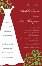 Red Bridesmaid Chalkboard Holiday Invitations