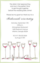 Wine Glasses Everywhere Sage Invitations