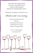 Wine Glasses Everywhere Purple Invitations