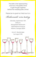 Wine Glasses Everywhere Yellow Invitations