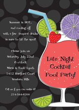 Tropical Drink Night Party Invitations
