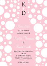 Bubbles Pink Champagne White Polka Dot Invitations