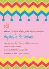 Colorful Chevron Fiesta Pink Invitations