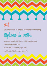 Colorful Chevron Fiesta Lavender Invitations
