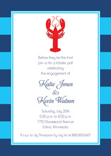Blue Stripes Lobster Dinner Invitations