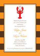 Autumn Orange Lobster Dinner Invitations