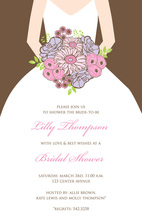 Beautiful Bouquet Bride Chocolate Invitations
