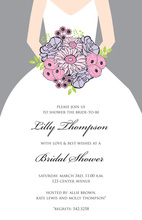 Beautiful Bouquet Bride Smoke Grey Invitations