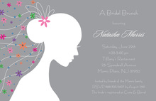 Romantique Bride Grey Shower Invitations