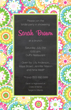 Haute Flower Chalkboard Border Invitations