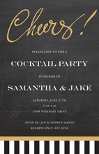 Just Say Cheers! Chalkboard Invitations