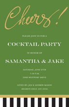 Just Say Cheers! Envy Green Invitations