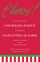 Just Say Cheers! Red Invitations