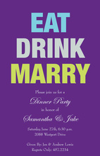Announcing Eat Drink Marry Invitations