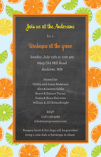 Fresh Citrus Border Chalkboard Invitations