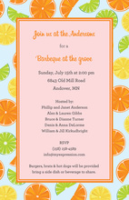 Fresh Citrus Pink Invitations