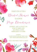 Red Purple Floral Border Invitations