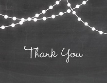 Hanging Lights Chalkboard Thank You Cards