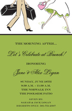 Traveling Couple Wedding Brunch Meadow Green Invites