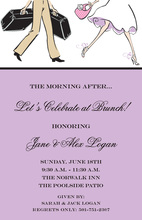 Traveling Couple Wedding Brunch Lavender Invitations