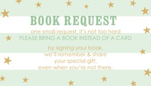 Mint Stripes Gold Glitter Stars Bring A Book Card