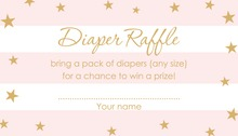 Pink Stripes Gold Stars Raffle Cards