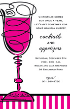 Hot Pink Cheers Cocktail Invitations