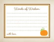 Little Pumpkin Rustic Border Advice Cards