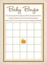 Little Pumpkin Rustic Border Baby Bingo