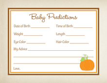 Little Pumkin Baby Predictions