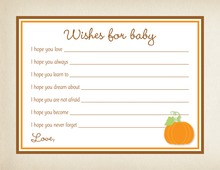 Little Pumpkin Baby Wishes Card