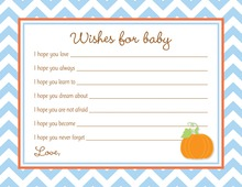 Little Pumpkin Blue Chevron Border Baby Wishes