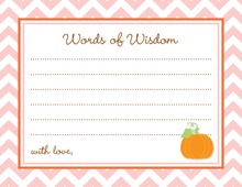 Little Pumpkin Pink Chevron Border Advice Cards