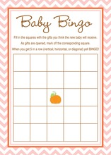 Little Pumpkin Pink Chevron Border Baby Bingo