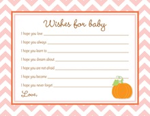 Little Pumpkin Pink Chevron Border Baby Wishes