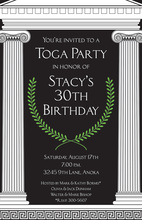 Mega Toga Black Greek Invitations