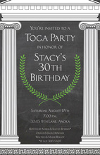 Mega Toga Chalkboard Pillars Invitation