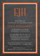 Autumn Orange Border Chalkboard Invitations