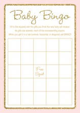 Gold Glitter Graphic Border Pink Baby Bingo