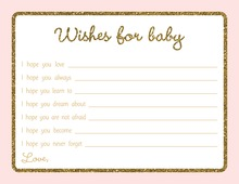 Gold Glitter Graphic Border Pink Baby Wishes