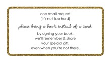 Gold Glitter Graphic Border Bring A Book Card
