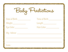 Gold Glitter Graphic Border Baby Predictions