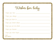 Gold Glitter Graphic Border Baby Wishes